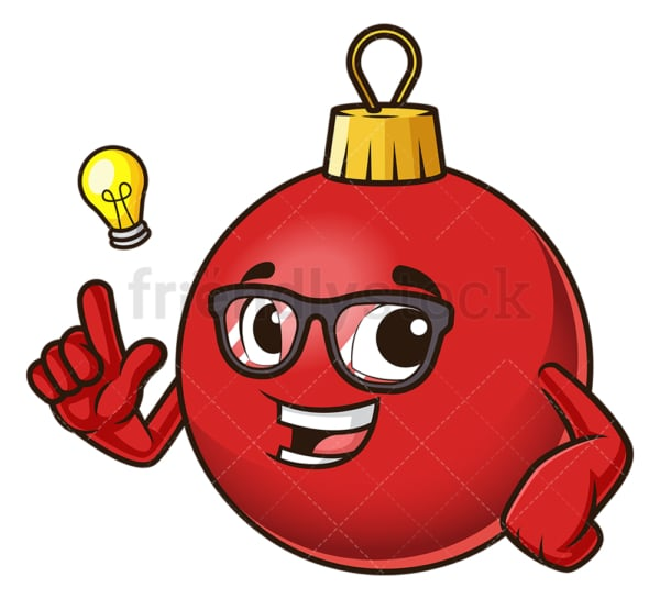 Christmas ball having an idea. PNG - JPG and vector EPS (infinitely scalable).
