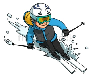 Girl skiing. PNG - JPG and vector EPS (infinitely scalable).