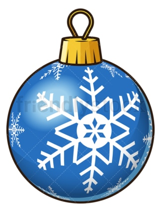 Blue snowflake christmas ball. PNG - JPG and vector EPS file formats (infinitely scalable). Image isolated on transparent background.