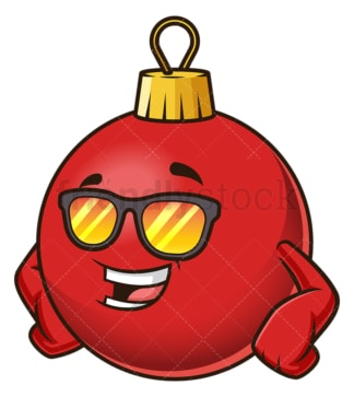 Cool christmas ball character. PNG - JPG and vector EPS (infinitely scalable).