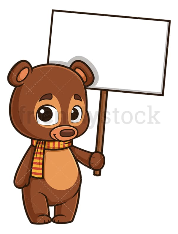 Autumn bear blank sign. PNG - JPG and vector EPS (infinitely scalable).