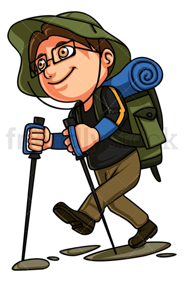 Little boy hiking. PNG - JPG and vector EPS (infinitely scalable).