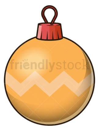 Orange christmas ball. PNG - JPG and vector EPS file formats (infinitely scalable). Image isolated on transparent background.