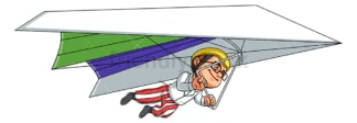 Boy hang gliding. PNG - JPG and vector EPS (infinitely scalable).