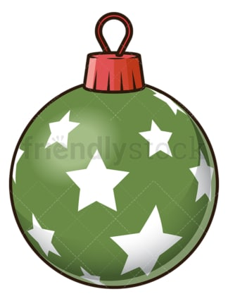 Green star christmas ball. PNG - JPG and vector EPS file formats (infinitely scalable). Image isolated on transparent background.