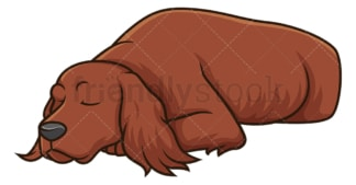 Sleeping irish setter. PNG - JPG and vector EPS (infinitely scalable).