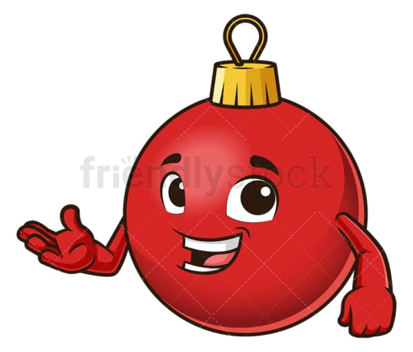 Christmas ball presenting. PNG - JPG and vector EPS (infinitely scalable).