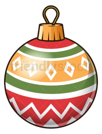 Colorful christmas ball. PNG - JPG and vector EPS file formats (infinitely scalable). Image isolated on transparent background.