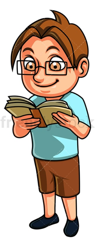 Kid reading book. PNG - JPG and vector EPS (infinitely scalable).