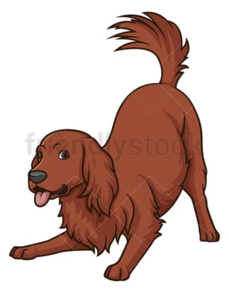 Playful irish setter. PNG - JPG and vector EPS (infinitely scalable).