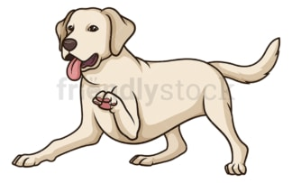 Playful labrador retriever. PNG - JPG and vector EPS (infinitely scalable).