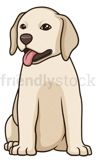 Cute labrador retriever puppy. PNG - JPG and vector EPS (infinitely scalable).