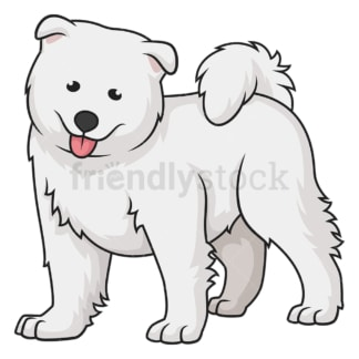 Cute samoyed puppy. PNG - JPG and vector EPS (infinitely scalable).