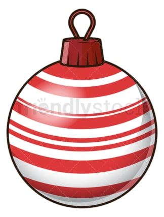 Dark red striped christmas ball. PNG - JPG and vector EPS file formats (infinitely scalable). Image isolated on transparent background.