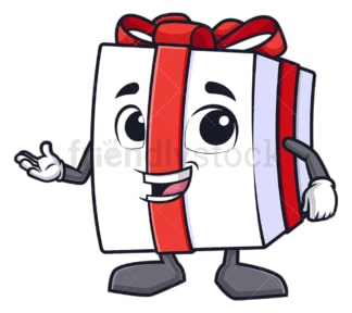 Gift box presenting. PNG - JPG and vector EPS (infinitely scalable).