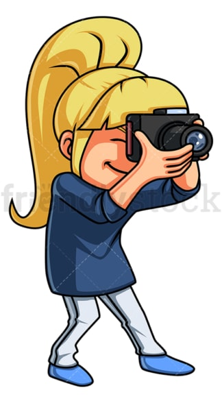 Little girl taking photo. PNG - JPG and vector EPS (infinitely scalable).