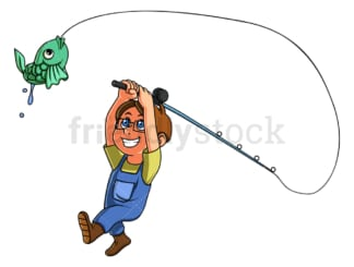 Child fishing. PNG - JPG and vector EPS (infinitely scalable).