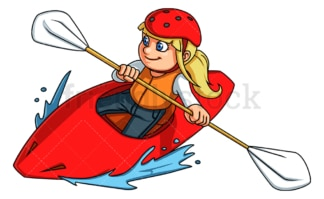 Little girl rafting. PNG - JPG and vector EPS (infinitely scalable).