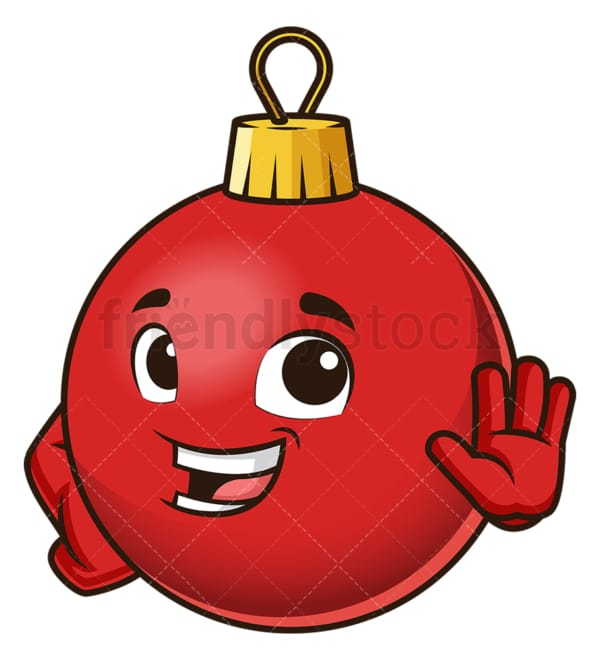 Christmas ball attention gesture. PNG - JPG and vector EPS (infinitely scalable).