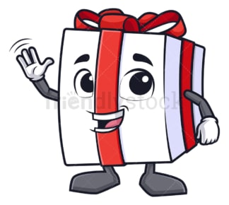Gift box waving. PNG - JPG and vector EPS (infinitely scalable).