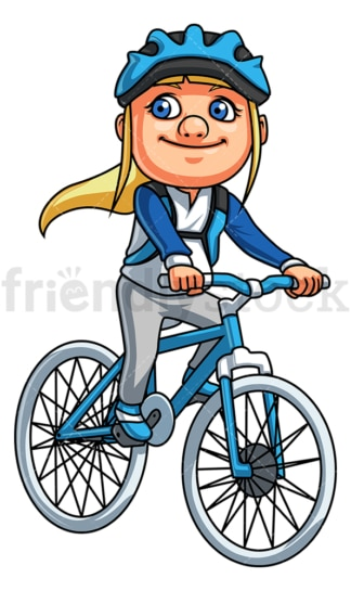 Little girl riding mountain bike. PNG - JPG and vector EPS (infinitely scalable).