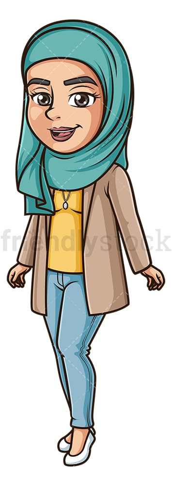 Modern muslim woman. PNG - JPG and vector EPS (infinitely scalable).
