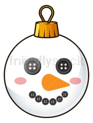 Snowman christmas ball. PNG - JPG and vector EPS file formats (infinitely scalable). Image isolated on transparent background.