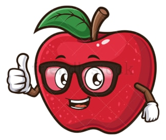Apple teacher thumbs up. PNG - JPG and vector EPS (infinitely scalable).