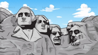 Mount rushmore background in 16:9 aspect ratio. PNG - JPG and vector EPS file formats (infinitely scalable).
