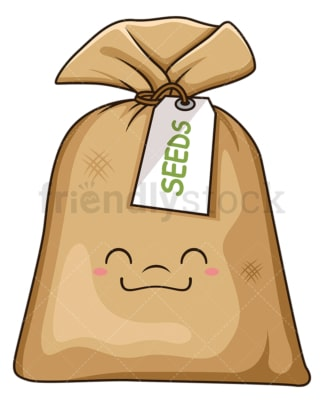 Kawaii seeds. PNG - JPG and vector EPS (infinitely scalable).