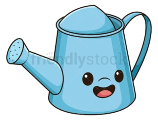 Kawaii watering can. PNG - JPG and vector EPS (infinitely scalable).