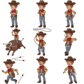 Male cowboy. PNG - JPG and infinitely scalable vector EPS - on white or transparent background.