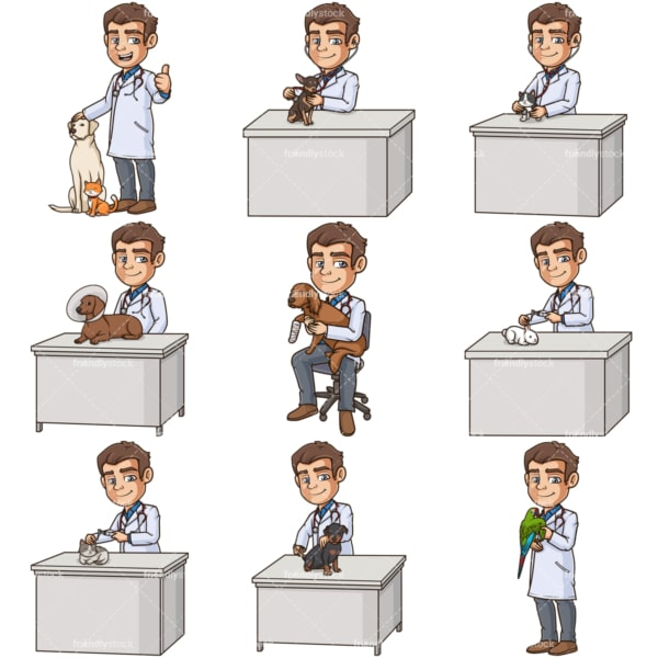 Male veterinarian. PNG - JPG and infinitely scalable vector EPS - on white or transparent background.