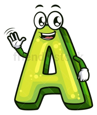 Cartoon letter a. PNG - JPG and vector EPS file formats (infinitely scalable). Image isolated on transparent background.
