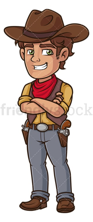 Confident cowboy. PNG - JPG and vector EPS (infinitely scalable).