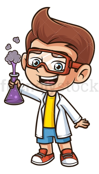 Cute boy scientist. PNG - JPG and vector EPS (infinitely scalable).
