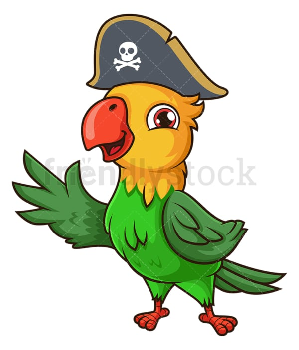 Pirate parrot. PNG - JPG and vector EPS file formats (infinitely scalable). Image isolated on transparent background.