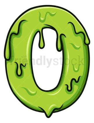 Slime number 0. PNG - JPG and vector EPS file formats (infinitely scalable). Image isolated on transparent background.