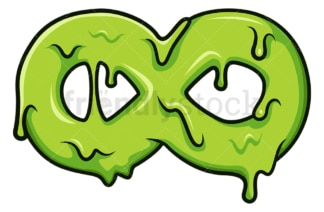Slime infinity symbol. PNG - JPG and vector EPS file formats (infinitely scalable). Image isolated on transparent background.