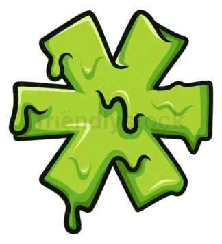 Slime asterisk symbol. PNG - JPG and vector EPS file formats (infinitely scalable). Image isolated on transparent background.