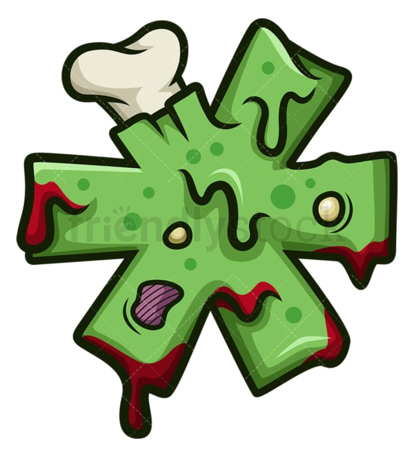 Zombie asterisk symbol. PNG - JPG and vector EPS file formats (infinitely scalable). Image isolated on transparent background.