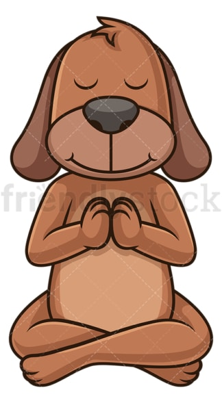 Dog doing yoga. PNG - JPG and vector EPS (infinitely scalable).
