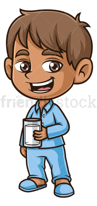 Hispanic boy wearing pjs. PNG - JPG and vector EPS (infinitely scalable).