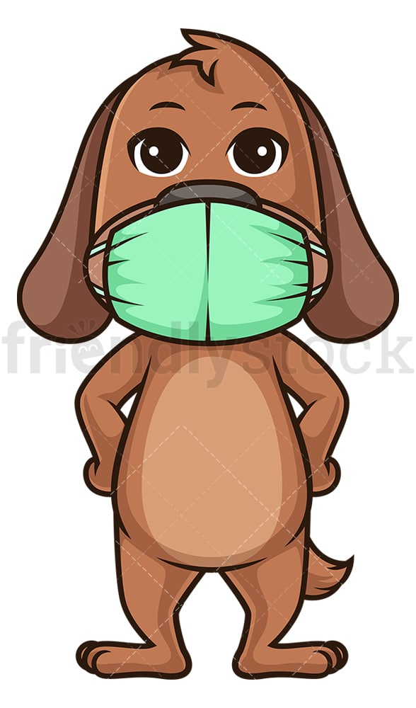 Pup with face mask. PNG - JPG and vector EPS (infinitely scalable).