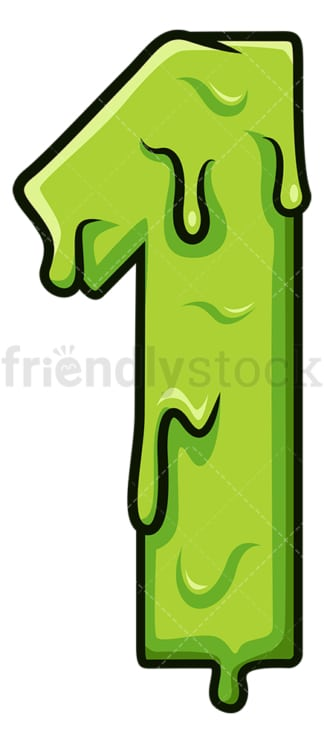 Slime number 1. PNG - JPG and vector EPS file formats (infinitely scalable). Image isolated on transparent background.