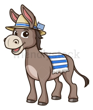 Greek donkey. PNG - JPG and vector EPS file formats (infinitely scalable). Image isolated on transparent background.