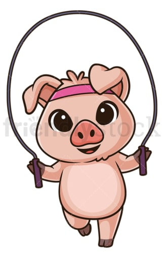 Pig working out. PNG - JPG and vector EPS (infinitely scalable).