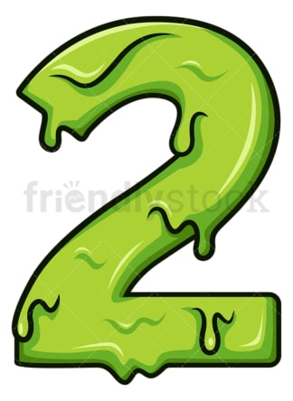 Slime number 2. PNG - JPG and vector EPS file formats (infinitely scalable). Image isolated on transparent background.