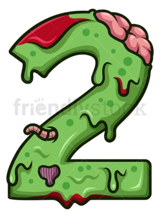 Zombie number 2. PNG - JPG and vector EPS file formats (infinitely scalable). Image isolated on transparent background.