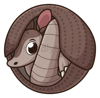 Armadillo rolled up into ball. PNG - JPG and vector EPS (infinitely scalable).
